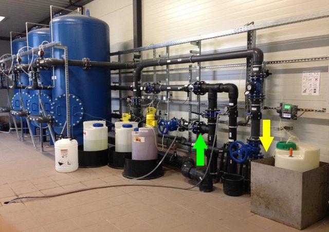 Станция водоочистки. Фильтры и система подачи реагентов.