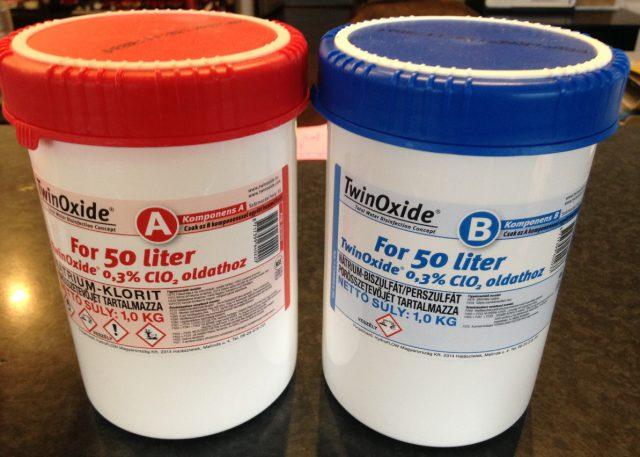 ТвинОксид (Компонент А и Компонент В) для приготовления 50 литров 0,3% раствора. ТвинОксид (Компонент А и Компонент В) для приготовления 50 литров 0,3% раствора.