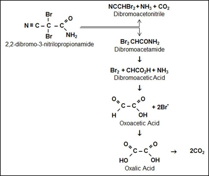 Химическая формула Dibromonitrilopropionamide (DBNPA)