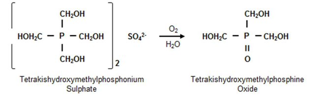 Сульфат Tetrakishydroxymethylphosphonium (THPS) окисляется до оксида (THPO)